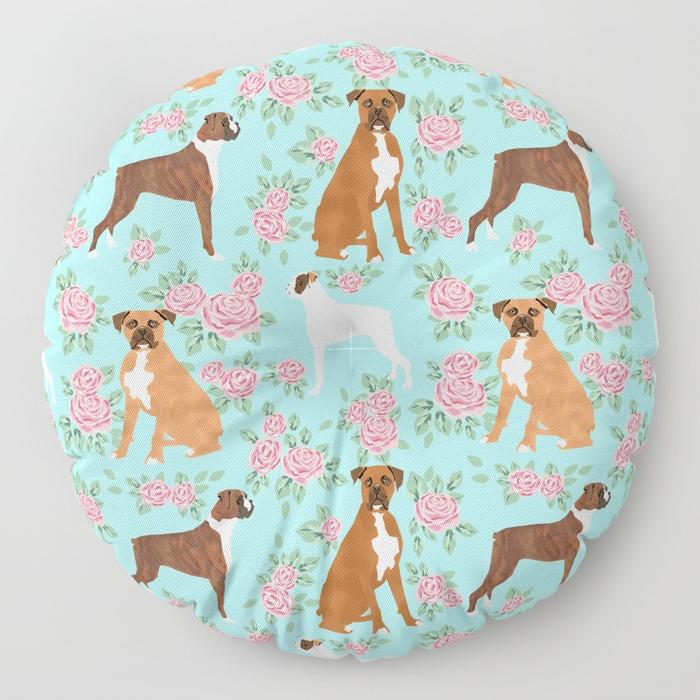 boxer-florals-floral-pattern-dog-portrait-pet-friendly-dog-breeds-boxers-floor-pillows